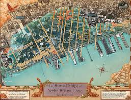 san francisco map san francisco shipwrecks shown underneath city in new map daily
