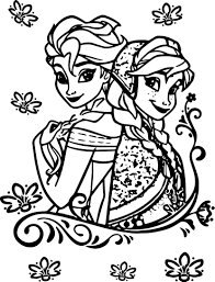 coloring frozen coloringages free anna elsa olafrintables
