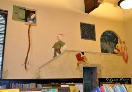 the ornamentalist library children s room mural completed read a book