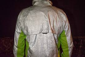 mens hi vis waterproof cycling jacket ultimate visibility u0027torch u0027 cycling jacket shines at night