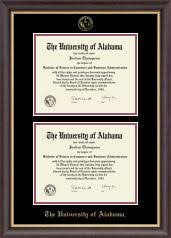 of alabama diploma frame heritage frame with black and orange matting for 14x17 diploma