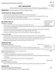 Electrician Resume Example Electrician Resume Examples Resumedoc
