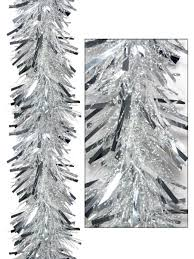 thick metallic silver thin transparent tinsel garland 2 7m