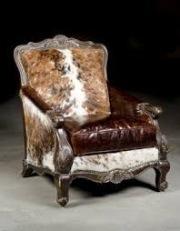 cowhide chair foter