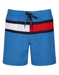 Mens Flag Shorts Tommy Hilfiger Men U0027s Nylon Solid Flag Swim Shorts Daphne