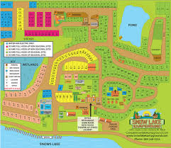 Michigan Campgrounds Map by Snow Lake Kampground Site Map Snow Lake