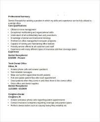 Dental Receptionist Resume Skills Administration Resume Samples 29 Free Word Pdf Documents
