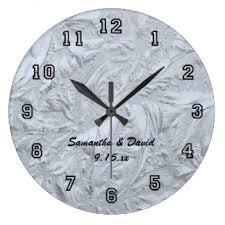 Personalized Wedding Clocks Plaster Wall Clocks Zazzle