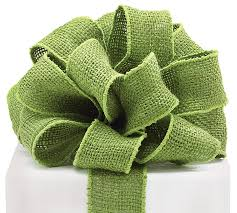 burlap wired ribbon 16 moss green burlap wired ribbon