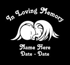in loving memory decal sticker baby wings custom sticker shop