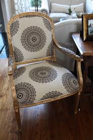 Reupholstering Armchair Reupholstered Chair Medallions Gold Paint For The Home
