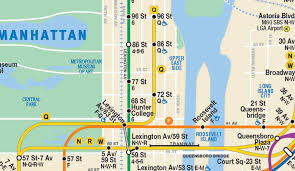 what side does a st go on this new nyc subway map shows the second avenue line so it has to