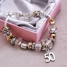 birthday charm bracelet 50th birthday charm bracelet co uk kitchen home