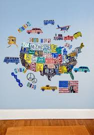 map usa place license plate usa map peel place wall stickers by oopsy