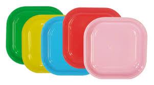 piatti e bicchieri di plastica colorati simani it 盪 catalogo 盪 piatti quadrati in plastica colorata