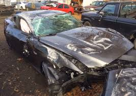 Black Mustang Crash Drunk Driver Smashes Into And Overturns Brand New 2015 Mustang