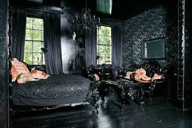 black and luxurious bedroom in gothic idea gothic home decor