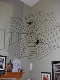 homemade halloween decorations spider web halloween spider