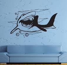 online get cheap predator stickers and decals aliexpress com hwhd wall stickers vinyl decal shark predator animal ocean sea marine decor free shipping china