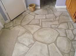 Stone Floor Bathroom - faux stone flooring is stylish easy care and family friendly