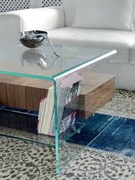 glass coffee table with glass shelf bridge glass and wood coffee table with drawer and shelf by sovet