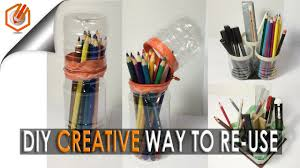 3 diy creative ways to reuse recycle plastic bottles pencil