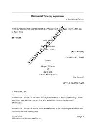 residential rental lease canada legal templates agreements