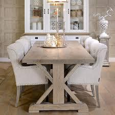 rustic oak dining table hoxton oak white farmhouse dining table