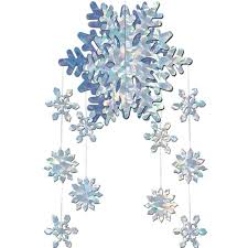 snowflake and frozen winter decorations partycheap