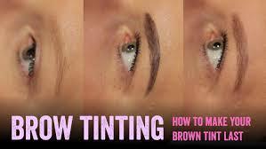 How To Do Eyebrow Make Brown Eyebrow Tinting Last Longer Salon Secrets Youtube