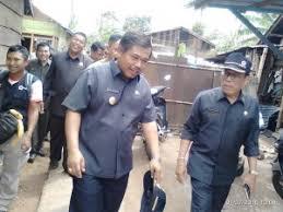 kunjungan pj gubernur bengkulu bersama kepala pelaksana bpbd