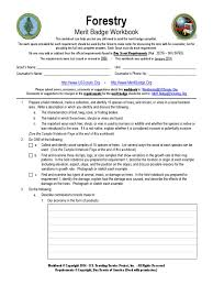 Cooking Merit Badge Worksheet Forestry Forestry Boy Scouts Of America