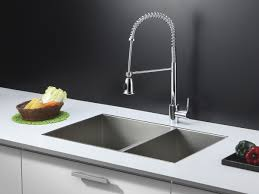 brushed nickel wall mount kitchen sink and faucet sets two handle