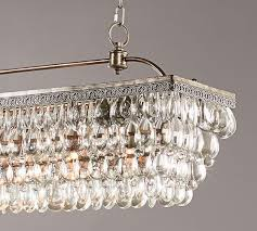 Crystal Drops For Chandeliers Clarissa Crystal Drop Rectangular Chandelier Pottery Barn