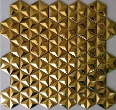 Mosaic Tile For Backsplash by Gold Metal Mosaic Stainless Steel Wall Tile Backsplash Smmt011 3d