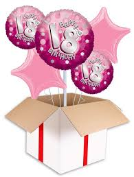 balloons for 18th birthday pink sparkle party happy birthday 18th balloon delivered inflated in uk