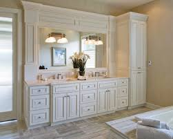 Linen Cabinet For Bathroom Endearing Bathroom Vanity With Linen Cabinet Interesting On