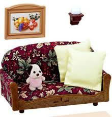 Sylvanian Family Funiture Luxury Sofa Settee Lounge Set EBay - Sylvanian families luxury living room set