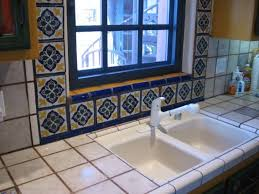 sle backsplashes for kitchens traditional talavera tile framed kitchen window accents