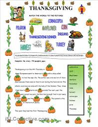 thanksgiving worksheet free esl printable worksheets made by