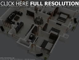 spectacular 3 bedroom house plans single floor 3d simple home nz