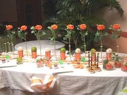 dã coration de table de mariage table ambiance orangée déco du jardin des oliviers photo de