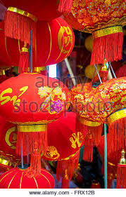 new year lanterns for sale new year lanterns decorations on the streets in hong kong stock