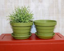 plastic flower pots etsy