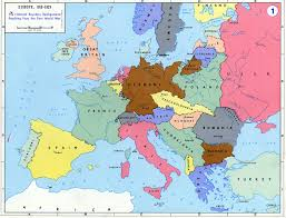 blank map of europe in 1919