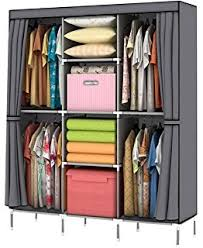 Wardrobe Cabinet With Shelves Amazon Com Portable Storage Organizer Wardrobe Closet U0026 Shoe Rack