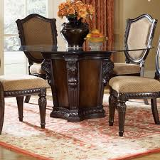 fairmont designs grand estates round pedestal dinner table w