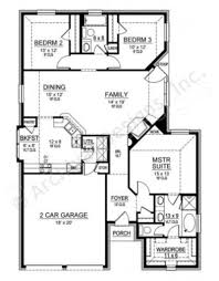 Narrow House Plans With Garage Cedar Crest Empty Nester House Plans Ranch Floor Plans