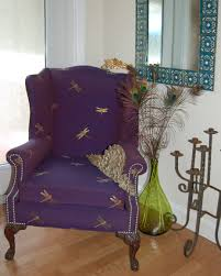 Vintage Hand Blown Glass Vases Love My Vintage Chair Upholstered In Dragonfly Fabric By Rogow