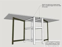 fold up table hinges remodelaholic foldable craft table made from scrap wood
